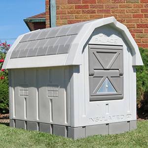 "ASL Solutions Deluxe Insulated Dog Palace with Floor Heater, Grey (38.5"" x 31.5"" x 47.5"")"