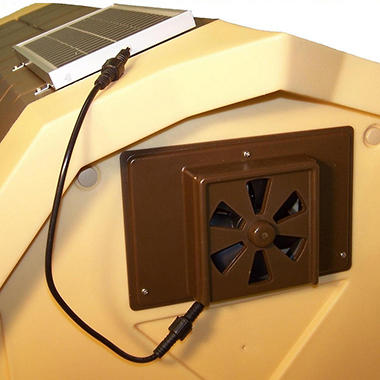 "ASL Solutions Dog House Solar Powered Exhaust Fan - 9.5"" x 6.5"""