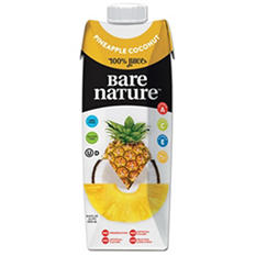 Bare Nature Pineapple Coconut Juice (33.8 oz., 6 ct.)