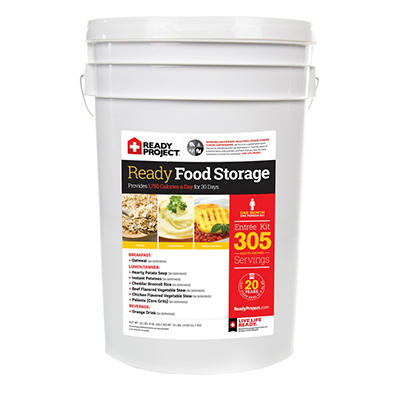 The Ready Project Emergency Food Storage Kit - 1 month - 1 person