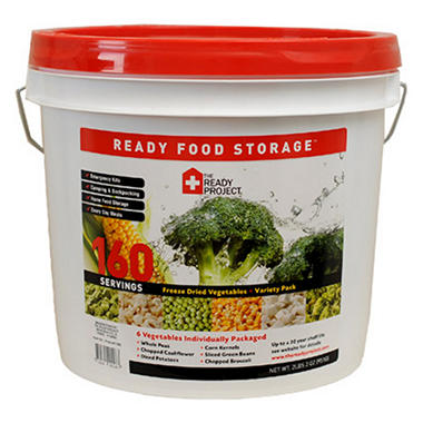 The Ready Project Freeze Dried Vegetables Variety Kit - 160 servings