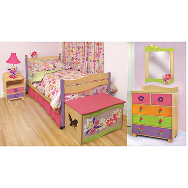Butterfly Bedroom Set - 6 pc. - Natural