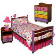 Butterfly Bedroom Set - 6 pc. - Chocolate
