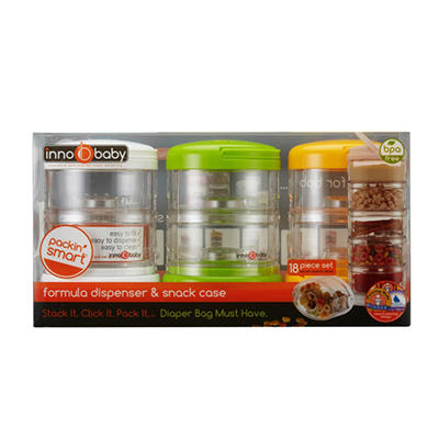Innobaby Packin' SMART Stackable On the Go Storage, Formula Dispenser & Snack Case (18 pk.)