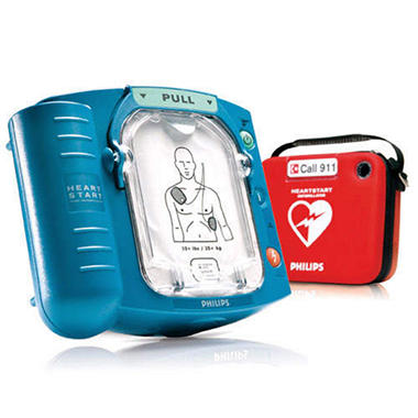 Philips HeartStart Home Defibrillator & Package