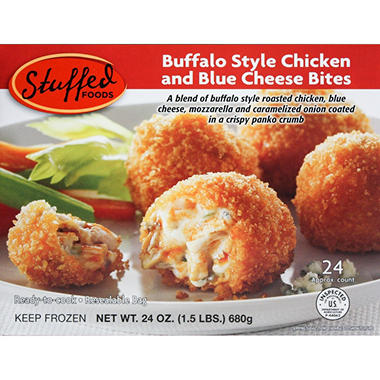 Stuffed Foods Buffalo Chicken and Blue Cheese Bites( 24 oz., approx ...