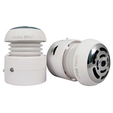 Chill Pill White Portable Speakers