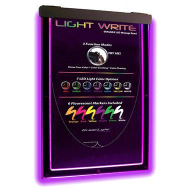 Light Write Erasable LED Message Board
