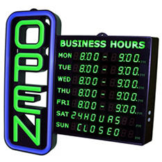 Digital LED Open Sign