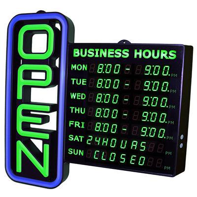Digital LED Open Sign