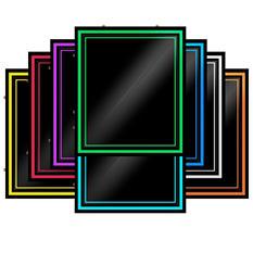 "Green Light Innovations Spectrum Light Frame Message Board - 20"" x 24"""