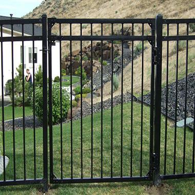 4 W X 5 H Traditional Series 3 Rail Steel Gate Kit