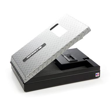 INPRINT Biometric Gun Safe with High Security Fingerprint Access -  Diamond Plate Finish