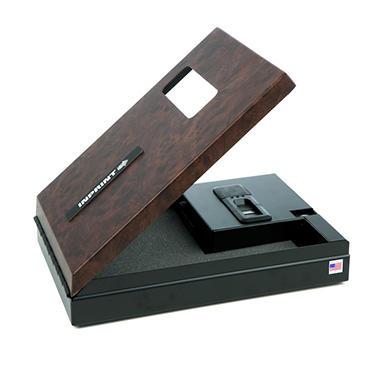 INPRINT Biometric Gun Safe with High Security Fingerprint Access -  Burlwood Finish