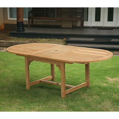 Grade A - Piemonte Teak Oval Extendable Dining Table