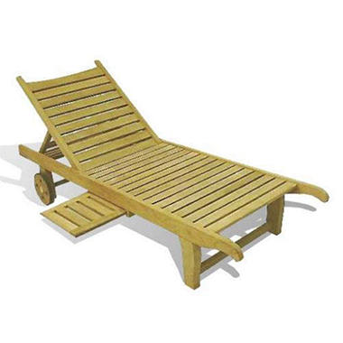 Piemonte Teak Wheeled Lounger with Tray