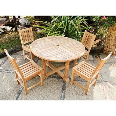 Piemonte Teak Outdoor Dining Set - 5 pc.