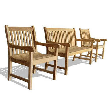 Piemonte Teak 2-Person Settee & Two Armchairs