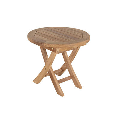Venice Round Teak End Table