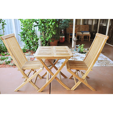 Milan Teak Bistro Set - 3 pc.