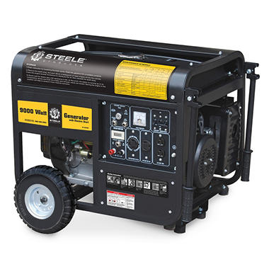 Steele 9,000 Watt Gas Generator with Electric Start