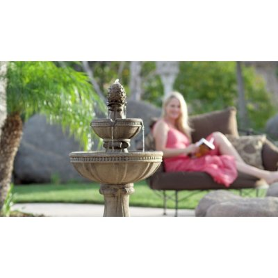 Serena Tuscan Three-Tier Cordless Fountain