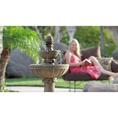 Serena Tuscan Three-Tier Cordless Fountain