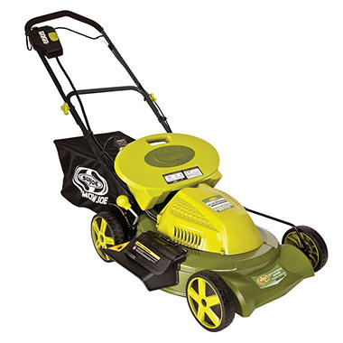 "Sun Joe 20"" 3-in-1 Cordless Self Propelled Lawn Mower with Side Discharge"