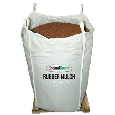 GroundSmart Rubber Mulch - Cedar Red 2000 lb. Super Sack