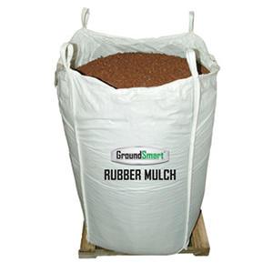 GroundSmart Rubber Mulch - Cedar Red 38.5 cubic feet  (SuperSack)