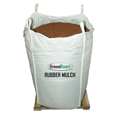GroundSmart Rubber Mulch - Cedar Red 1000 lb. SuperSack