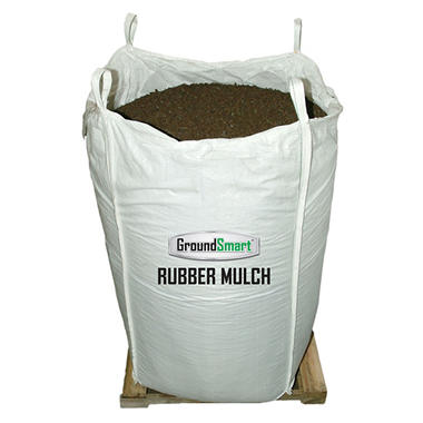 GroundSmart Rubber Mulch - Mocha Brown 76.9 cubic feet (SuperSack)