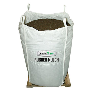 GroundSmart Rubber Mulch - Mocha Brown 1000 lb. SuperSack