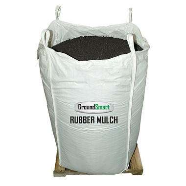 GroundSmart Rubber Mulch - Espresso Black 76.9 cubic feet (SuperSack) - Original Price $799, Save $100