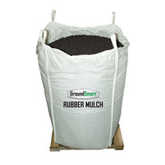 GroundSmart Rubber Mulch - Espresso Black 38.5 cubic feet  (SuperSack)