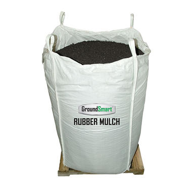 GroundSmart Rubber Mulch - Espresso Black 1000 lb. SuperSack