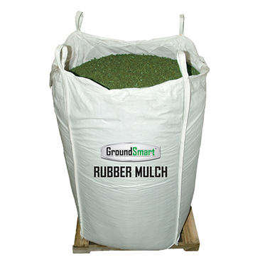 GroundSmart Rubber Mulch - Green 76.9 cubic feet (SuperSack)