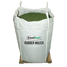 GroundSmart Rubber Mulch - Green 38.5 cubic feet (SuperSack)