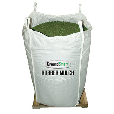 GroundSmart Rubber Mulch - Green 1000 lb. SuperSack
