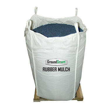 GroundSmart Rubber Mulch - Blue 76.9 cubic feet (SuperSack)