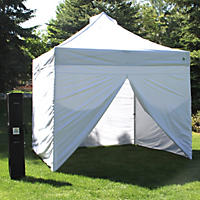 UnderCover 10' x 10' Commercial Instant Canopy with Zippered Wall Enclosure