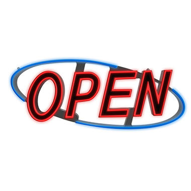 "Optiva Ultra Bright LED ""OPEN"" Sign"