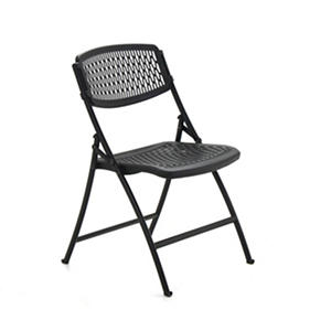 Mity Lite Flex One Folding Chair, Black (Select Quantity)