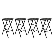 Mity Lite Flex One Folding Stool, Black - 4 pack