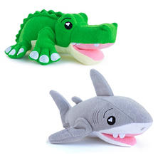 SoapSox Bathscrub 2 pk. (Choose Shark & Gator or Turtle & Hippo)