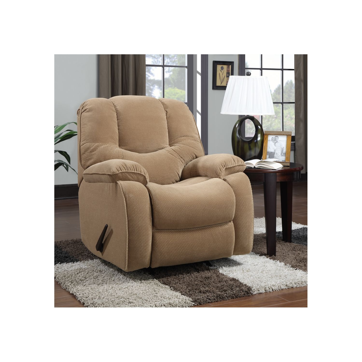 Rockford Rocker Recliner Full padded chaise at Sears.com