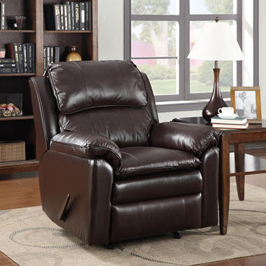 Bradford Leather Rocker Recliner