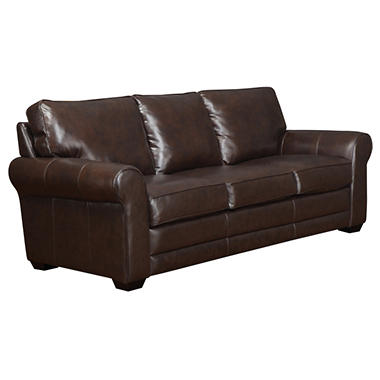 Bailey Leather Stationary Sofa