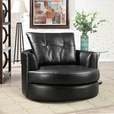 McKee Leather Swivel Chair