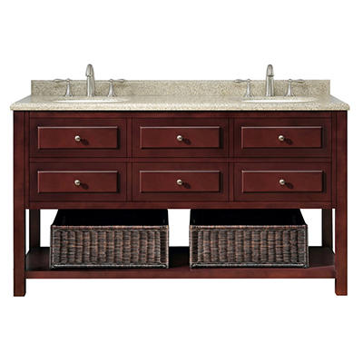 "Ove Decors Danny 60"" Double Bowl  Bath Vanity"
